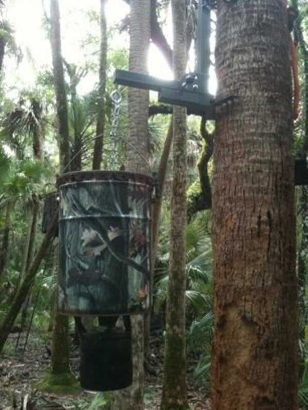 hanging deer feeder