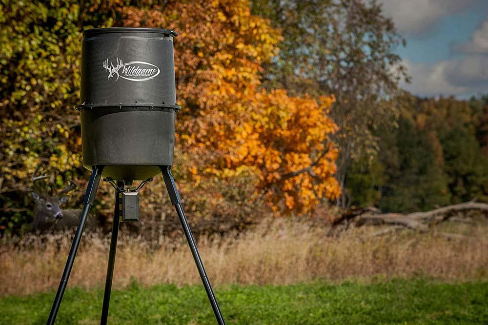Moultrie All In One Deer Feeder Timer Kit Metal Spin Plate Funnel Easy Setup